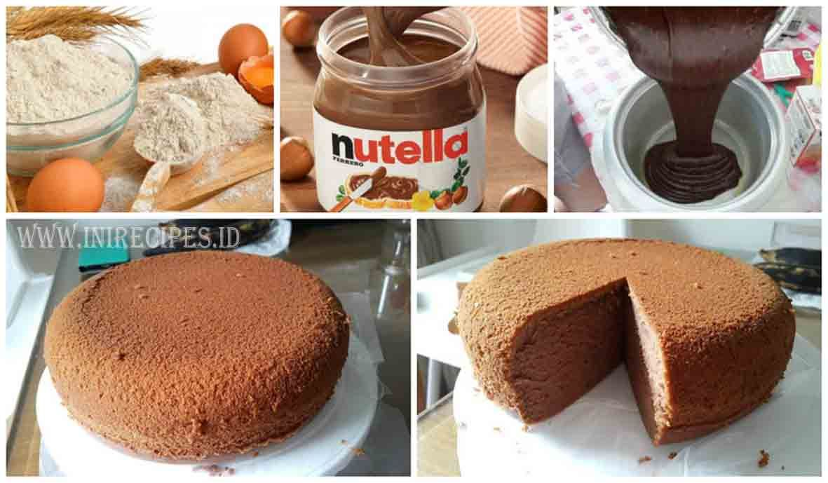 Resep Kue Bolu Nutella Coklat Praktis Dan Gampang Banget Nutella Kue Bolu Resep Kue