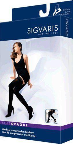 7d62d6fcd Sigvaris Soft Opaque Thigh High 20-30mmHg Women s Open Toe