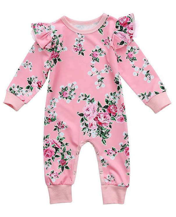 e8ab0817d8 SHOP Our Pink Floral Jumpsuit for Baby   Toddler Girls