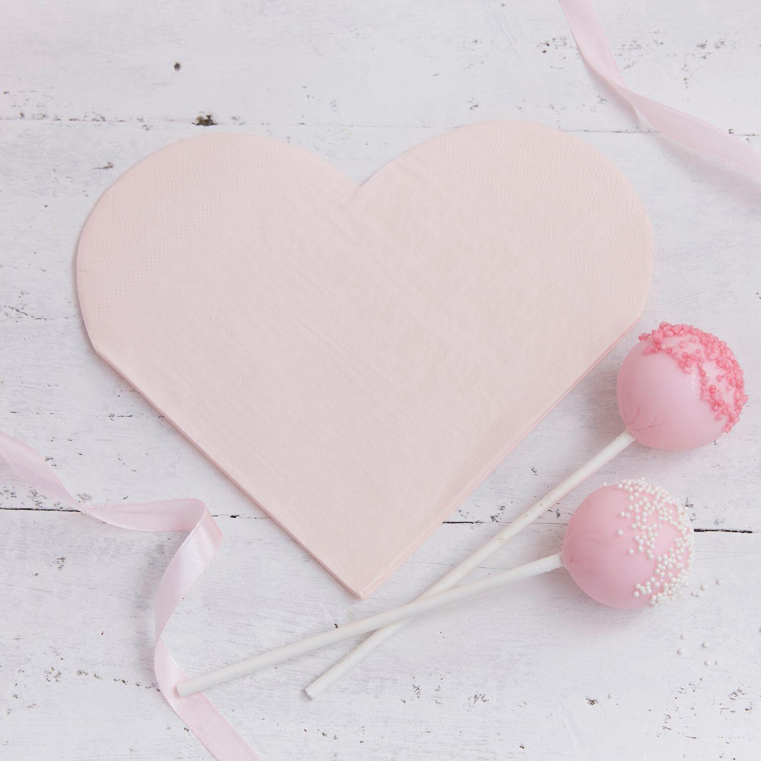 Herz Servietten Rosa Prinzessin Geburtstagsparty Hochzeit Shop Prinzessinengeburtstag