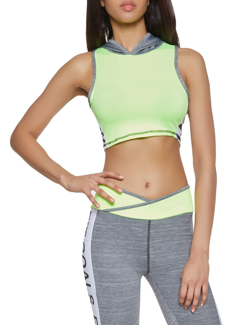 ec198b0d7 Fit Graphic Cropped Activewear Top - Green - Size XL in 2019 ...