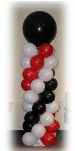 Red Black And White Party Decorations