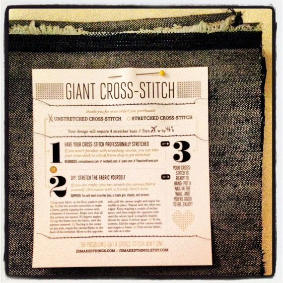 Giant Make it Rain CrossStitch by jdmakesthings on Etsy, $200.00