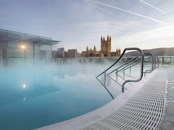 Thermae Bath Spa in Bath, UK. Lovely memories of time with Lynette, next time we must try the waters a la Jane Austen
