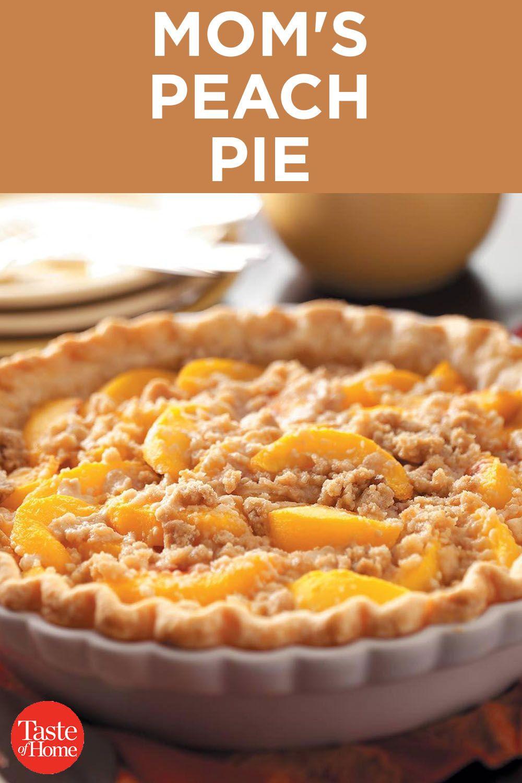 Mom S Peach Pie Recipe Peach Pie Recipes Peach Pie Betty Crocker Peach Pie Recipe