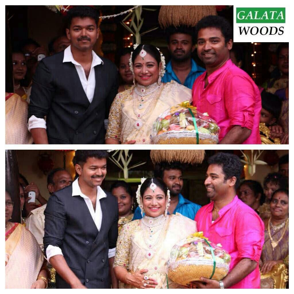 Vijay getup for atlee movie is revealed during a marriage function