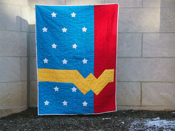 Wonder Woman Quilt by LesserBear on Etsy