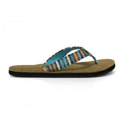 1afa7638368358 Sanuk Fraidy Cat Women s Sandals Multi Color  sanuk