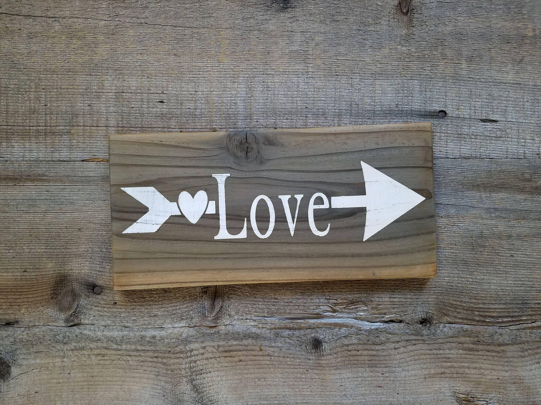 Love Sign Wood Love Sign Arrow Sign Arrow Decor Love Wooden Sign Rustic Love Sign Love Decor Love Photo Wa Love Wooden Sign Rustic Signs Love Wood Sign