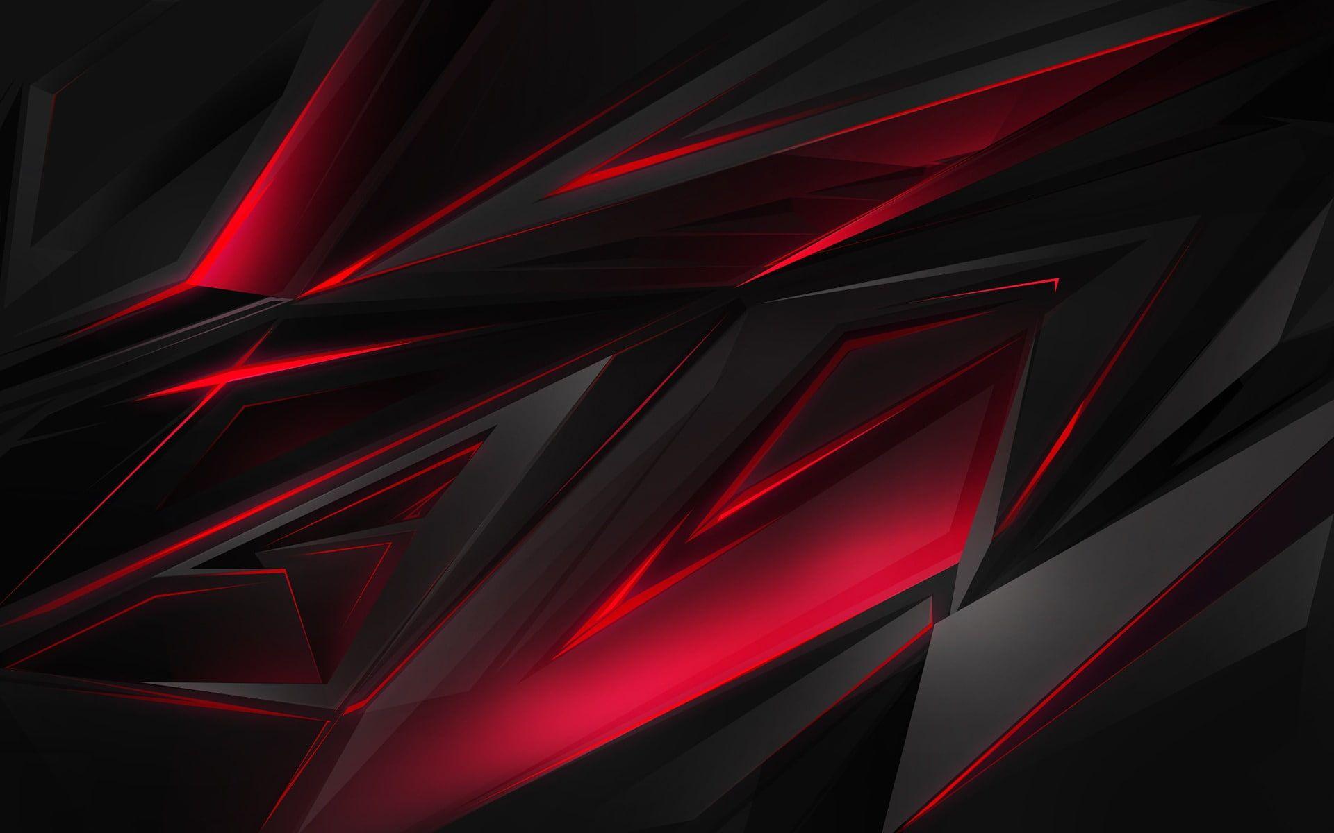 Abstract Polygonal Red Glare Dark Background 1080p Wallpaper Hdwallpaper Desktop Red And Black Wallpaper Black Wallpaper Dark Red Wallpaper