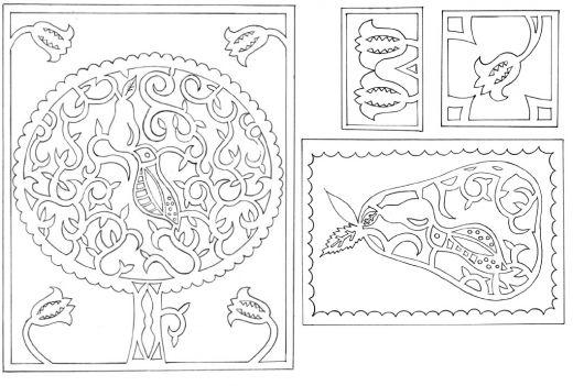 Modern Christmas Papercutting Template