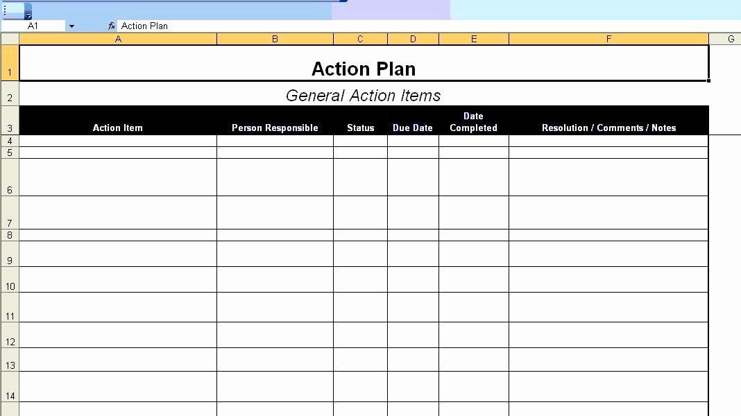 Action Planning Template Excel New Excellent Action Plan Template Example In Ms Action Plan Template Simple Business Plan Template Business Plan Template Free