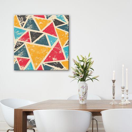 Tableau design triangles graphiques peinture tableau for Peinture graphique