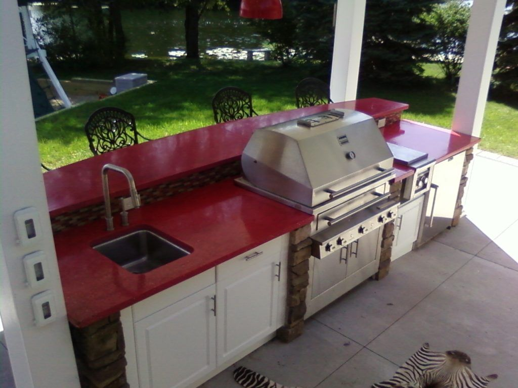 Red Stone Outdoor Kitchen Grill   Outdoor Kitchens   Pinterest ...