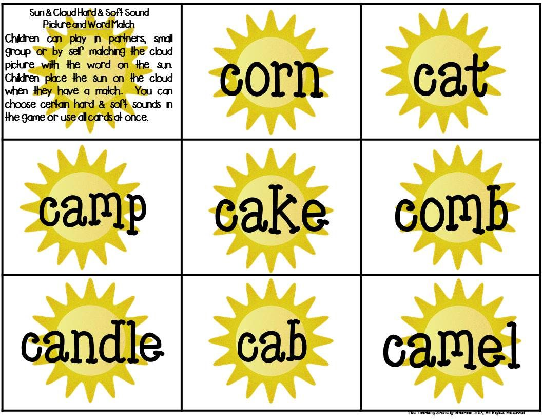 Great Phonic Games To Practice The Hard Amp Soft Sounds Of C
