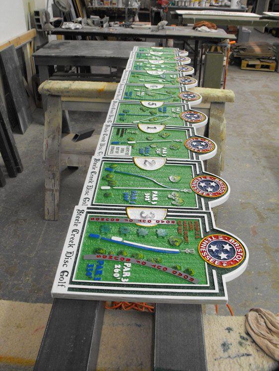 Disc Golf Tee Signs Archives - Custom Course MapsCustom ...  |Frisbee Golf Sign