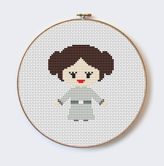 Star Wars Princess leah-modern cross stitch pattern - perfect for ...