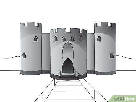 Draw a Castle (With images) | Drawings, Fantasy castle, Castle