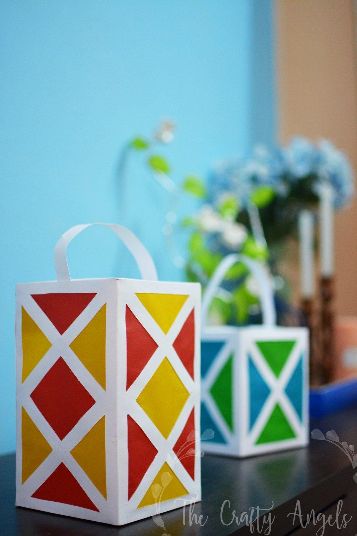 Diy Paper Lantern For Diwali Paper Lantern Tutorial Diwali Aakash