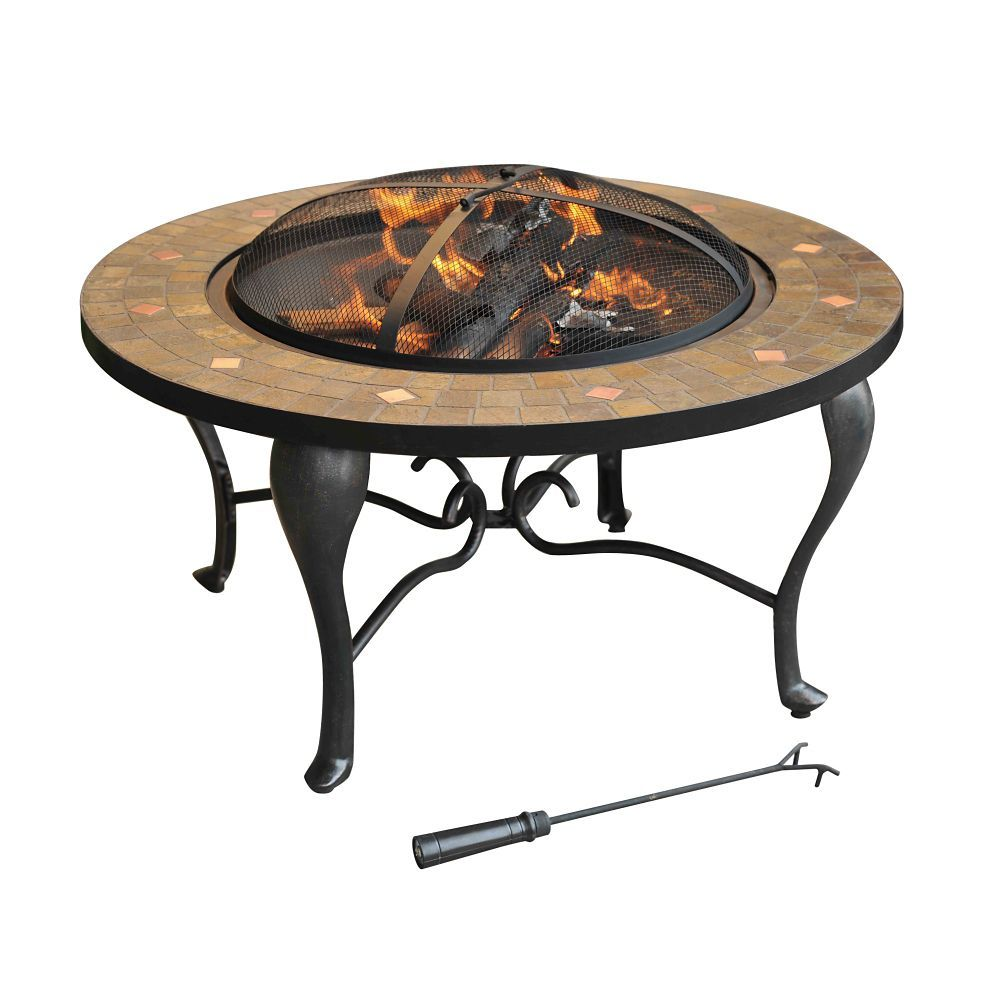 $247 - Bavaria 35-inch Wood/Charcoal Outdoor Fire Pit - Home Depot ...