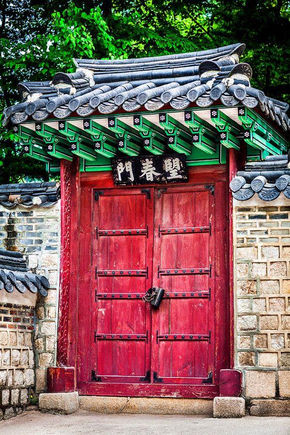 Korean Red Gate Korean Wall Art Decor Fine Art Photography