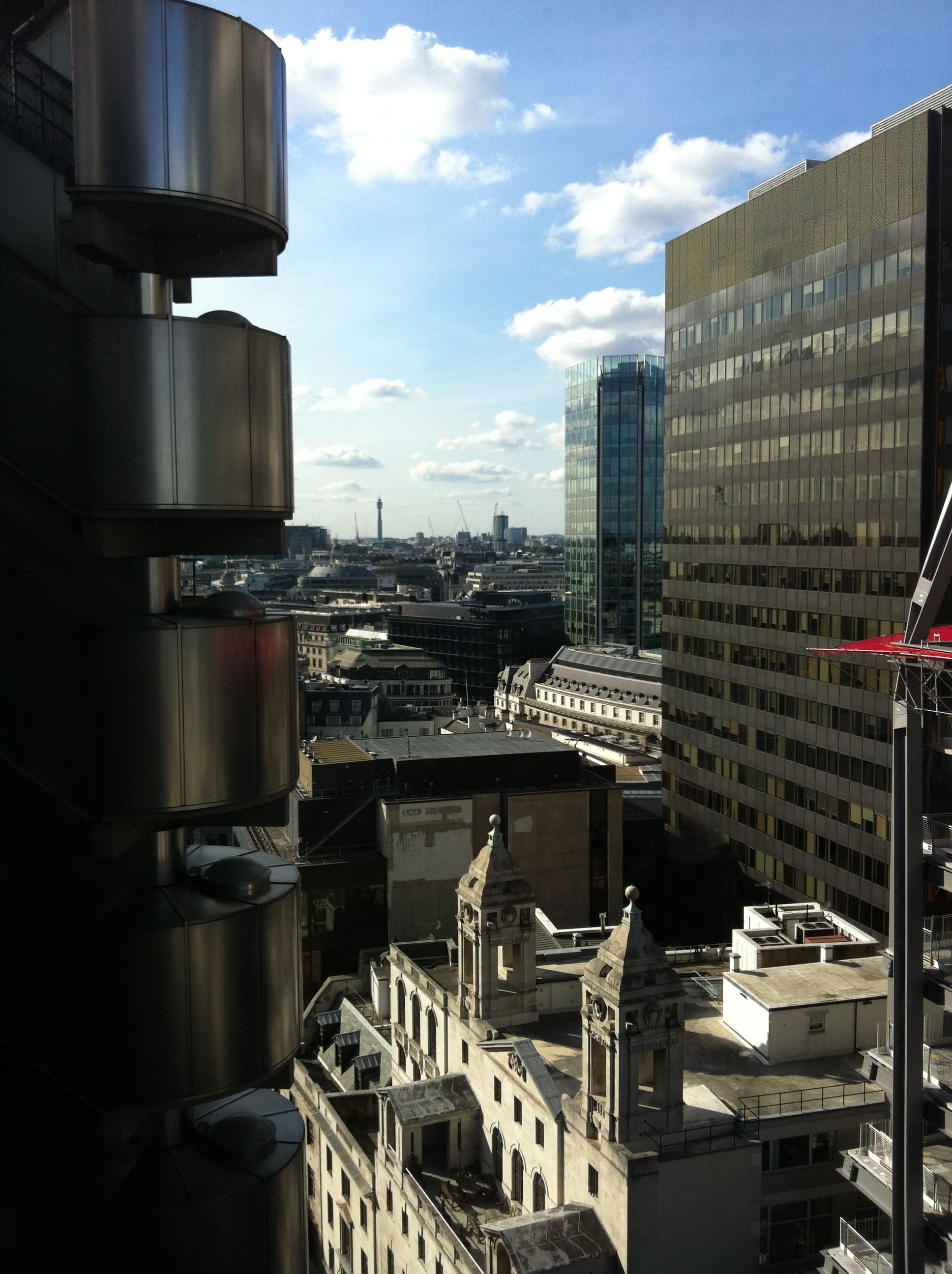 London from Lloyds building lifts