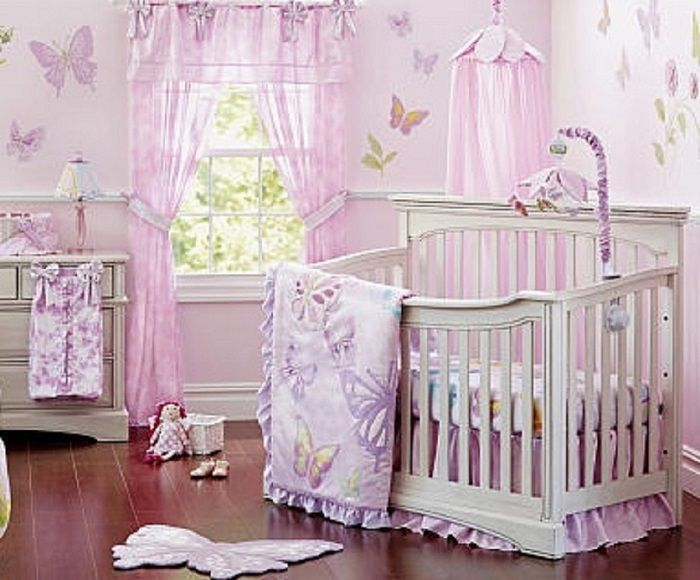 Baby Nursery Decor Awesome Soft Purple Colored Erfly