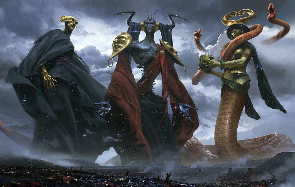 deity Tre divinità - autore ignoto //sigilonline.altervista.org// © dell'autore