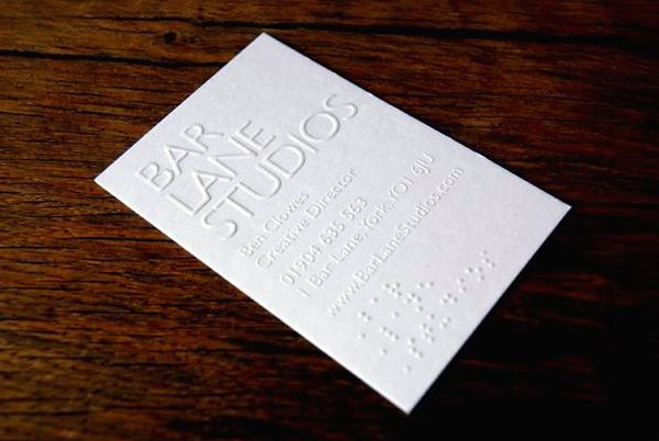 12 of the most attractive embossed business cards business cards the top 12 most attractive embossed business cards minimalist pure white blind embossed reheart Gallery