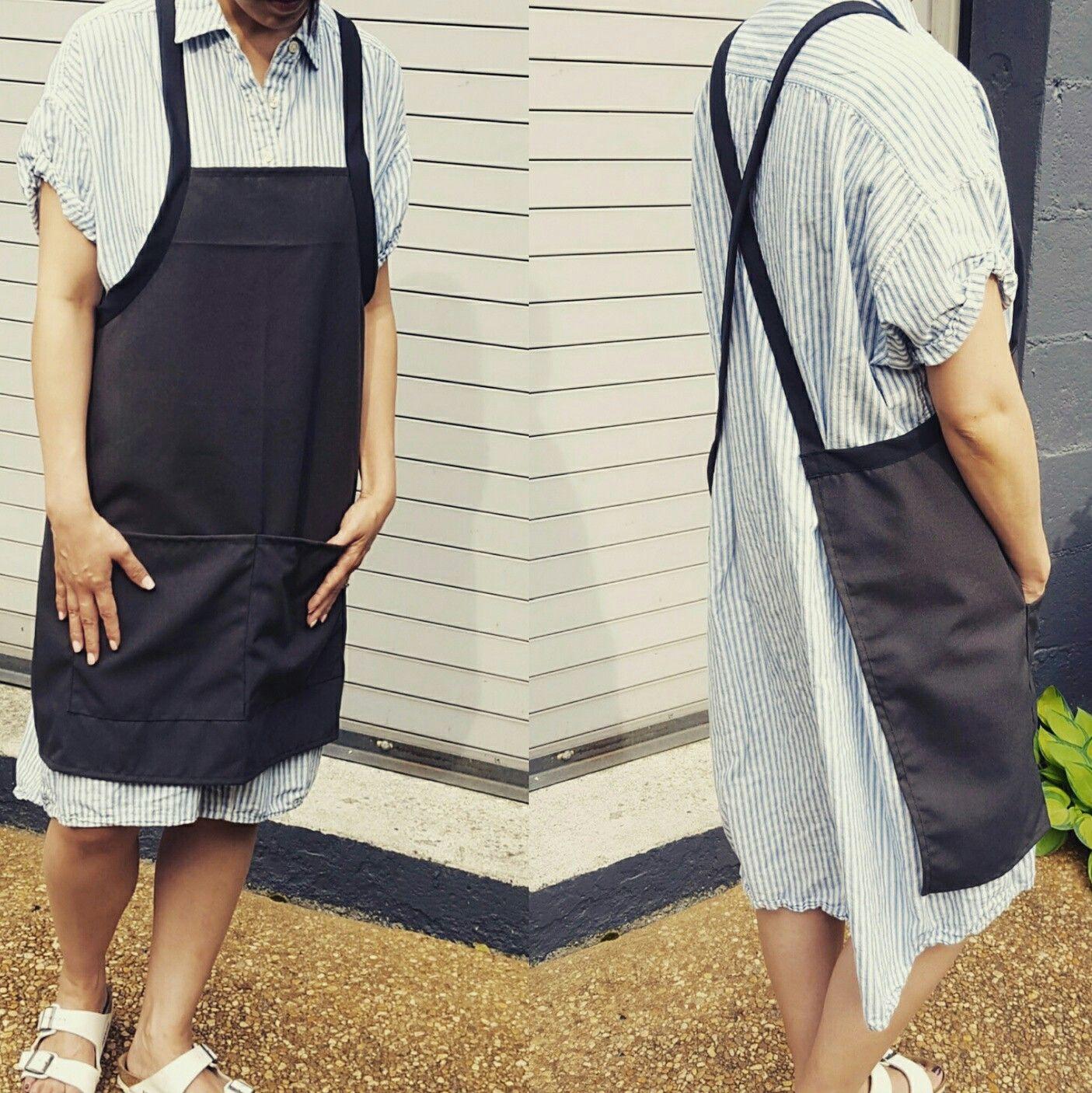 No tie apron design by linensusa.net #uniform #apron #madeinamerica