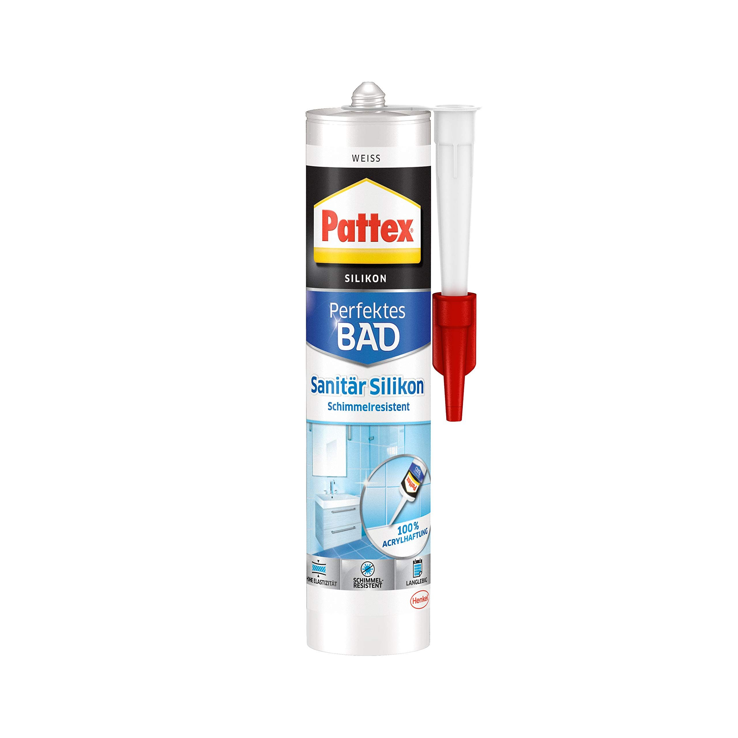 Pattex Perfektes Bad Sanitär Silikon, wasserfestes und