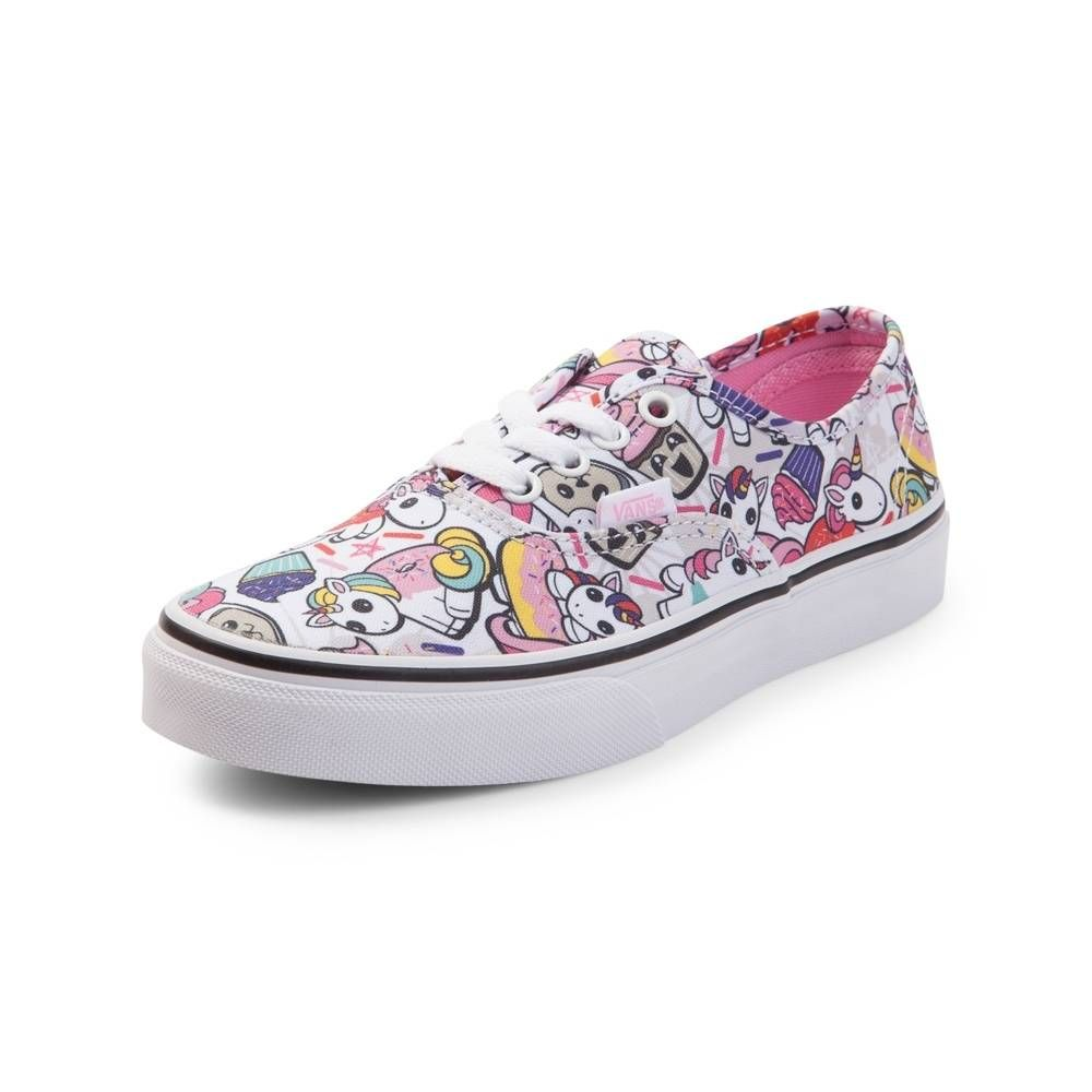 739a15838ea66c Youth Vans Authentic Donut Unicorn Skate Shoe