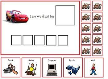 Autism Lightening McQueen Token Board If You Like UX Design Or