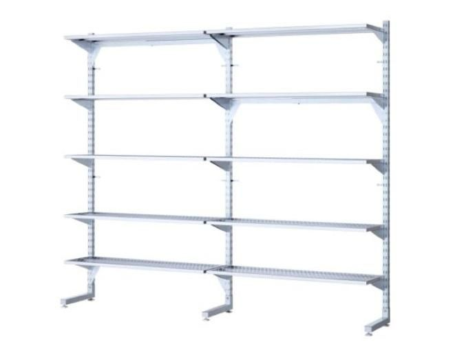 10 Easy Pieces Wall Mounted Shelving Systems Remodelista Wall Mounted Shelves Ikea Shelving Shelving Systems