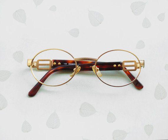 c399569a094 FENDI Fendissime Frames eyeglasses   Vintage 90s gold by Skomoroki