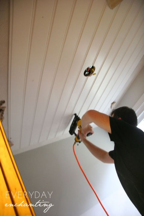 Diy Beadboard Ceiling With Images