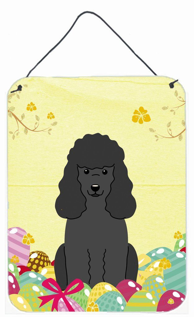 Easter Eggs #poodle Black Wall or Door Hanging Prints BB6071DS1216 ...