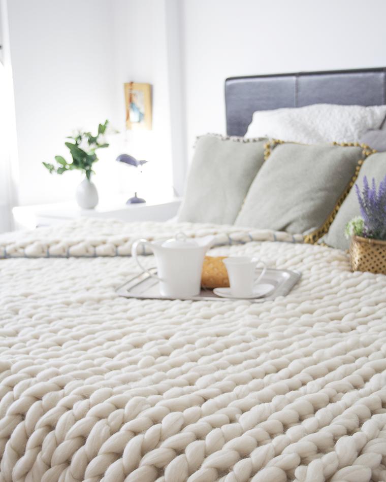 Knitting noodles mantas de lana merino manta de lana for Colchas de punto de lana
