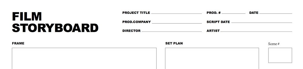 Free Storyboard Template For Film And Video Projects  Pre
