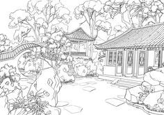 Pin By Lana On Asian Garden Coloring Pages Coloring Pages Coloring Pictures