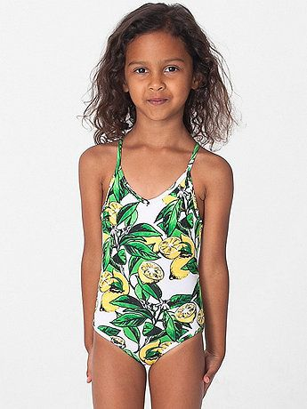 4a0f850511 American Apparel - Fruit Print Kids One-Piece Bathing Suit | FASHION ...