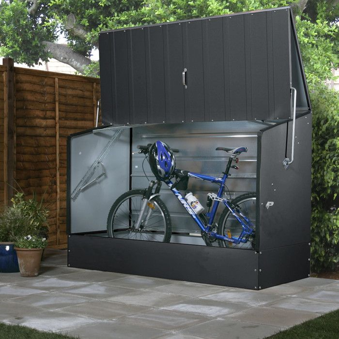 tepro gartenbox premium fahrradbox aus metall. Black Bedroom Furniture Sets. Home Design Ideas