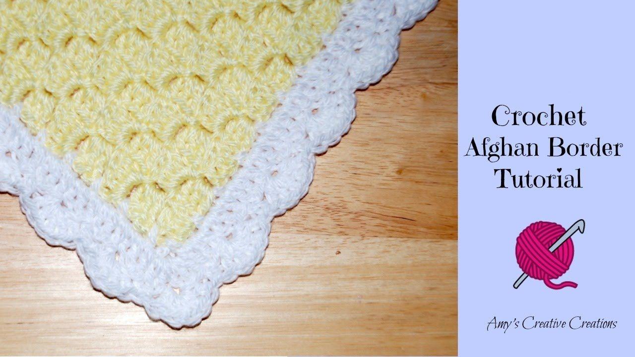 Crochet Afghan Shell Border - C2C   Crochet   Pinterest