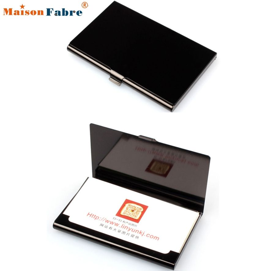 New Fashion Hot New Men Women Leather Credit Card Holder Case Card ...