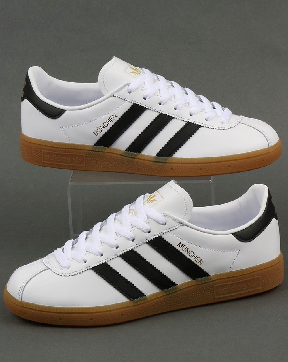 perdonar costilla garrapata  Adidas Munchen Trainers White/Black,leather,originals ... adidas munchen  trainers shoes gazelle mercury fre… | Sneakers men fashion, Adidas outfit  shoes, Sneakers
