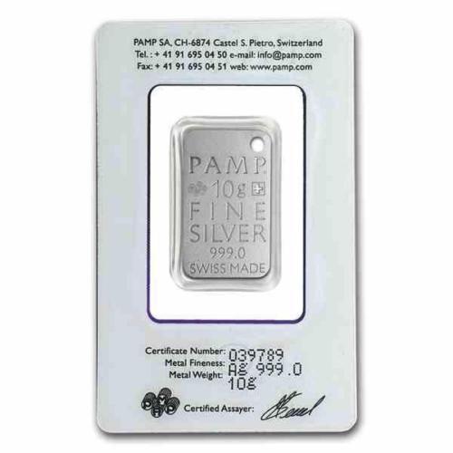 New 10g Silver Pamp Suisse Icons Stingray Skin 999 Fine Silver Ingot Pendant Fine Silver Bar Pendant Silver Ingot