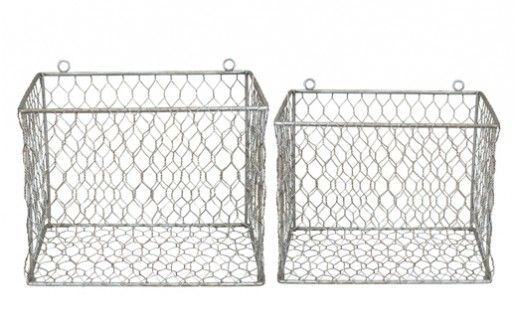 Wire Mesh Wall Mount Baskets Decor Steals One Deal A Day