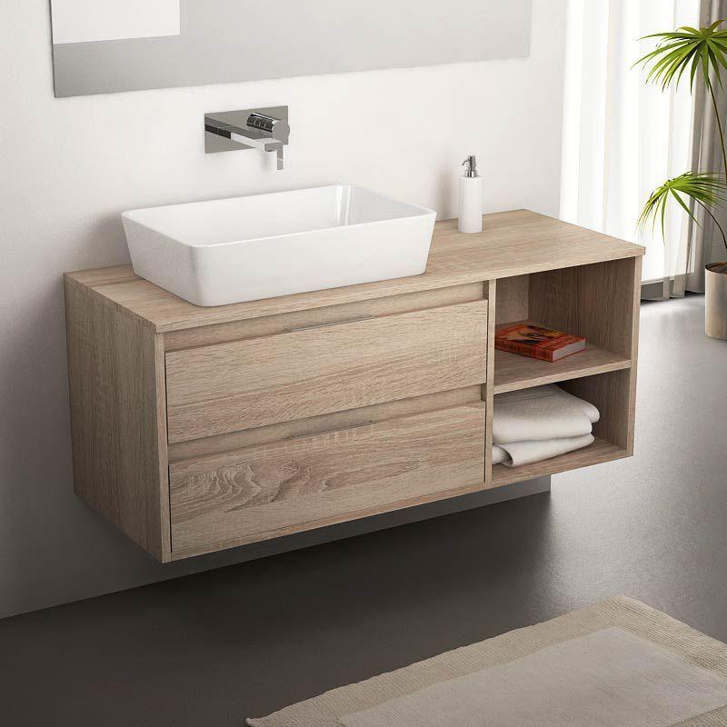 Terra, Meuble salle de bain Cambrian 120 cm, 2 tiroirs Pinterest