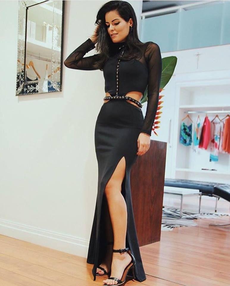 Look bapho da Mariah Bernardes com o vestido longo - sensação da coleção!!
