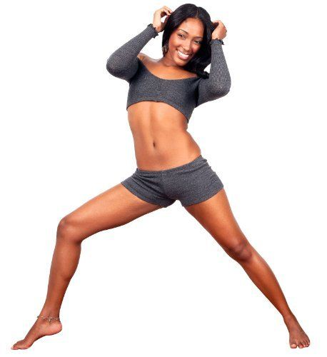 Yoga Tart Bare Belly Pole Dancing Top Low Rise Yoga Dance Shorts ...